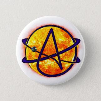 Bóton Redondo 5.08cm Símbolo do ateu do ardor Sun