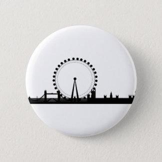 Bóton Redondo 5.08cm Skyline de Londres