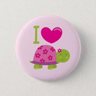 Bóton Redondo 5.08cm Tartaruga bonito botão personalizado para meninas