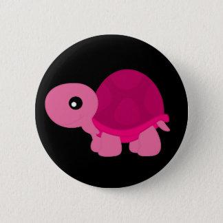 Bóton Redondo 5.08cm Tartaruga cor-de-rosa