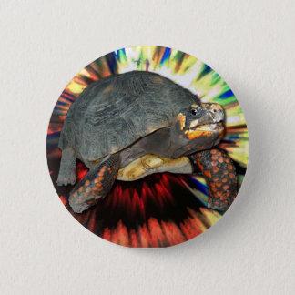 Bóton Redondo 5.08cm Tartaruga psicadélico