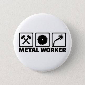 Bóton Redondo 5.08cm Trabalhador do metal