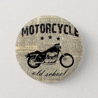 Bóton Redondo 5.08cm Velha escola da motocicleta