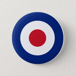 Bóton Redondo 5.08cm Vermelho azul e branco do botão da modificação