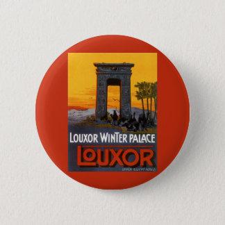 Bóton Redondo 5.08cm Viagens vintage, palácio do inverno de Louxor,