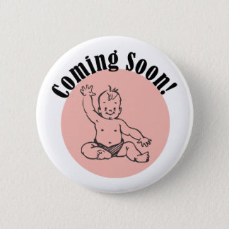 Bóton Redondo 5.08cm Vinda logo bebê no rosa