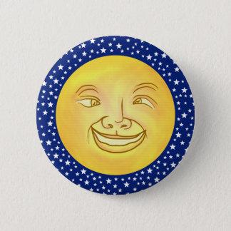 Bóton Redondo 5.08cm Vintage engraçado do espaço de homem da lua