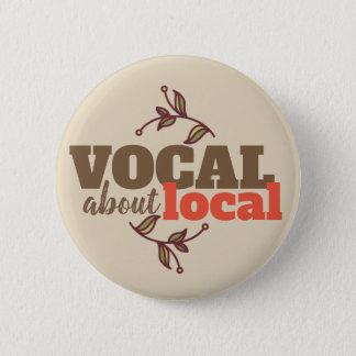 Bóton Redondo 5.08cm Vocal sobre o botão local