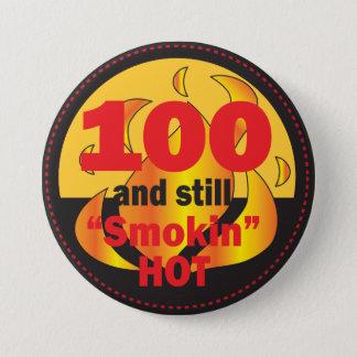Bóton Redondo 7.62cm 100 e ainda aniversário quente de Smokin | 100th