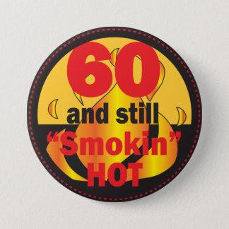 Bóton Redondo 7.62cm 60 e ainda aniversário quente de Smokin | 60th