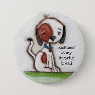 Bóton Redondo 7.62cm Amigo do salvamento - botão