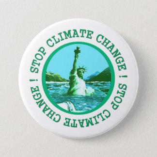 Bóton Redondo 7.62cm Aquecimento global das alterações climáticas