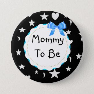 Bóton Redondo 7.62cm As mamães a ser estrelas, luas e coração
