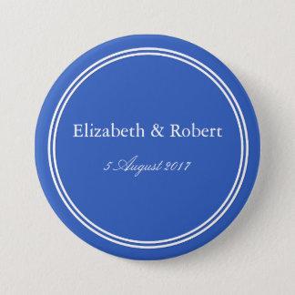 Bóton Redondo 7.62cm Azul do palácio - tendências 2018 da forma de