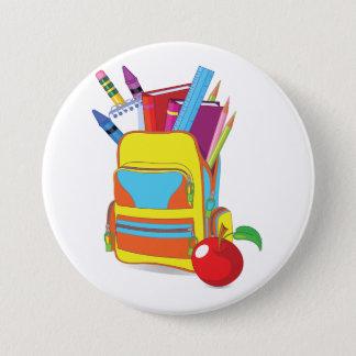 Bóton Redondo 7.62cm Botão completo do saco de escola