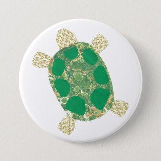 Bóton Redondo 7.62cm Botão da tartaruga verde