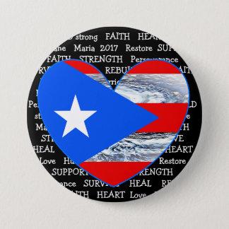 Bóton Redondo 7.62cm Botão de Maria 2017 do furacão da bandeira de