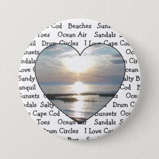 Bóton Redondo 7.62cm Botão do coração de Cape Cod