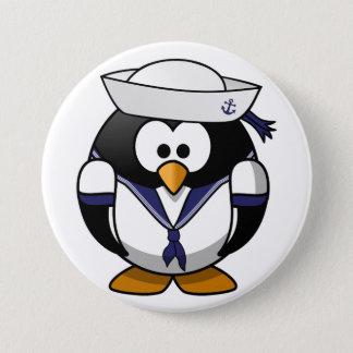 Bóton Redondo 7.62cm Botão do marinheiro do pinguim