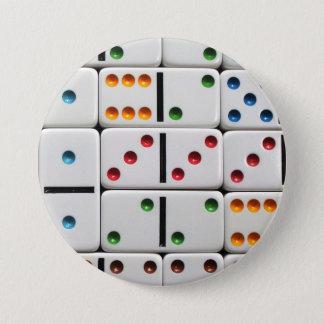 Bóton Redondo 7.62cm Botão dos dominós