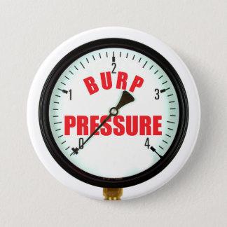 Bóton Redondo 7.62cm Botão engraçado do calibre de pressão do Burp da