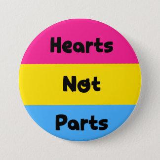 Bóton Redondo 7.62cm Botão Pansexual do orgulho das peças dos corações