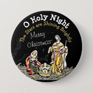 Bóton Redondo 7.62cm Botão santamente do Natal de Jesus do bebê da