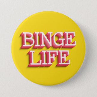 """Bóton Redondo 7.62cm Do """"vida frenesi"""" botão redondo de 3 polegadas"""