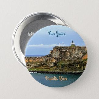 Bóton Redondo 7.62cm EL Morro que guarda a baía Puerto Rico de San Juan