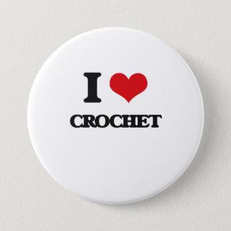 Bóton Redondo 7.62cm Eu amo o Crochet