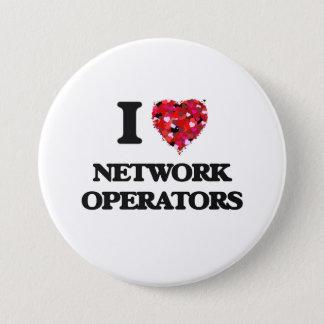 Bóton Redondo 7.62cm Eu amo operadores de rede
