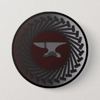Bóton Redondo 7.62cm Grande, botão redondo de 3 polegadas - BATENTE &