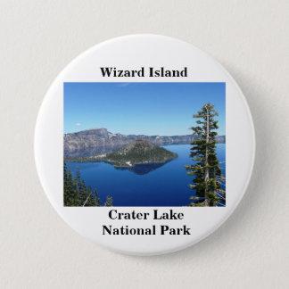 Bóton Redondo 7.62cm Ilha do feiticeiro no lago crater
