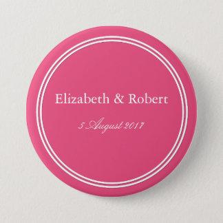 Bóton Redondo 7.62cm Rosa cor-de-rosa do êxtase - cor 2018 de Londres