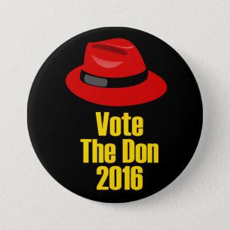 """Bóton Redondo 7.62cm """"Vote o grande botão de Don"""" 2016"""