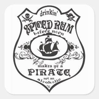bottle label Pirata Adesivo Quadrado