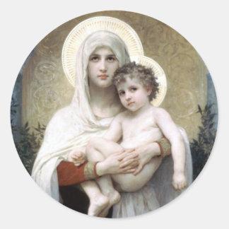 Bouguereau Madona com religião da cristandade dos Adesivo