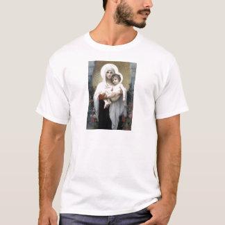 Bouguereau Madona com religião da cristandade dos Camiseta