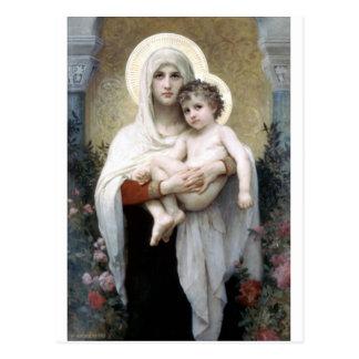 Bouguereau Madona com religião da cristandade dos Cartão Postal