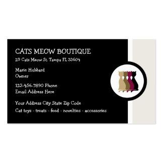 Boutique do gato cartão de visita
