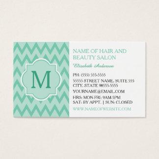 Boutique na moda do cabelo do monograma do cartão de visitas