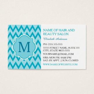 Boutique na moda do monograma do ziguezague de cartão de visitas