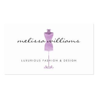 Boutique roxo da forma do manequim do vestido da cartão de visita