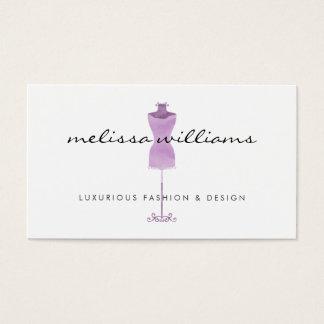 Boutique roxo da forma do manequim do vestido da cartão de visitas