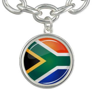 Bracelete Com Pingente Sul redondo lustroso - bandeira africana
