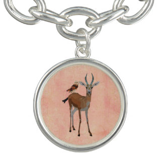 Bracelete do encanto da gazela & da coruja