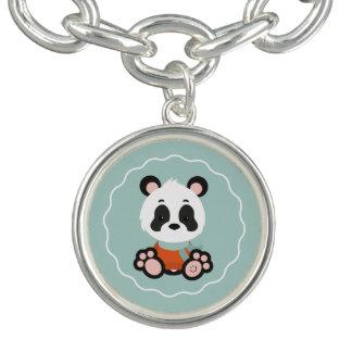Bracelete do encanto da panda do sorriso