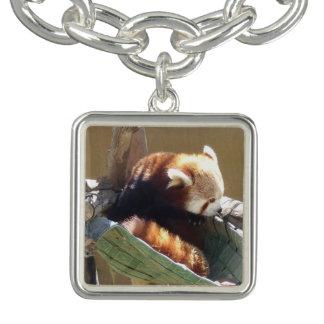 Bracelete do encanto da panda vermelha