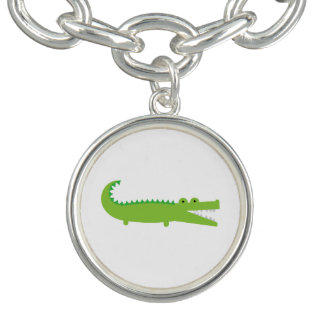 Bracelete verde do encanto do jacaré
