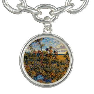 Braceletes Com Charms Vincent van Gogh - por do sol em belas artes de